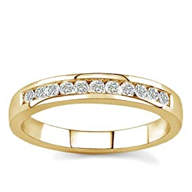 58% off 10k White Gold or Yellow Gold Channel-Set Diamond Band 41XHY323TEL._AA280_
