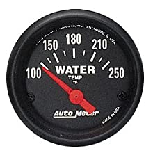 Auto Meter 2635 Z-Series 2-1/16&#034; Short Sweep Electric Water Temperature Gauge