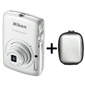 Nikon COOLPIX S01 Digital Camera - White + Case (10.1MP, 3x Optical Zoom) 2.5 inch LCD