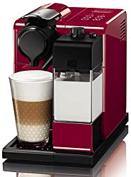 Nespresso EN550.R Delonghi Nespresso Lattissma Touch Automatic Coffee Machine, Glam Red