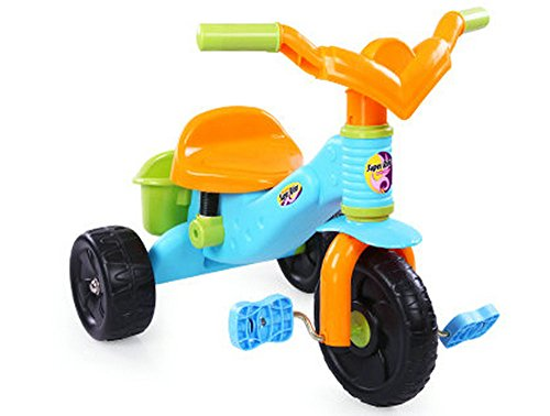 Big Dragonfly High Quality Happy Baby Beginings Ready Steady Ride On Tricycle For Toddlers & Kids With Foot Pedals And Basket Exquiste Gift Box Package Colorful