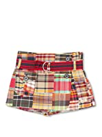 Trasluz Falda-Pantalón Patchwork (Multicolor)