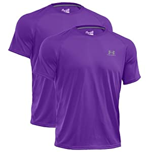 UNDER ARMOUR Herren HeatGear Regular TECH Shortsleeve Tee 2er Pack Violett-Violett 563 - XL