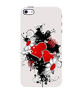 EPICCASE connecting hearts Mobile Back Case Cover For Apple iPhone 4/4s (Designer Case)