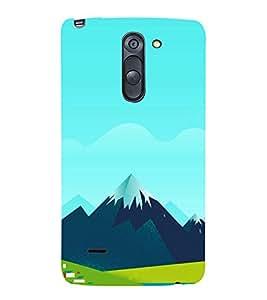 Snow Capped Hills Clipart 3D Hard Polycarbonate Designer Back Case Cover for LG G3 Stylus :: LG G3 Stylus D690N :: LG G3 Stylus D690