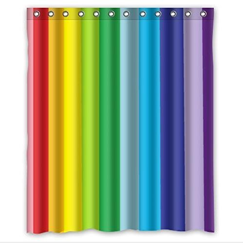 Funky Rainbow Shower Curtains