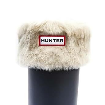 Hunter Soft Furry Cuffy Welly 1 Socks - Polar White