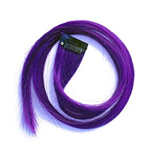 "22"" Clip-in Straight Long Hair Extension (Purple)"