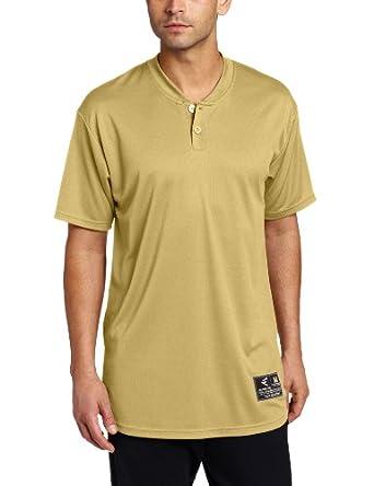 Easton Skinz 2 Button Placket Jersey, Vegas Gold, Small