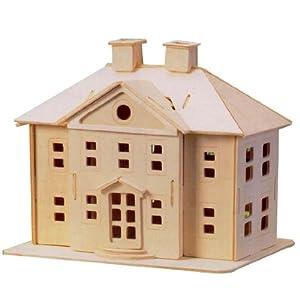 modellhaus 3d konstruktion set woodcraft haus modell landhaus selber bauen spielzeug. Black Bedroom Furniture Sets. Home Design Ideas