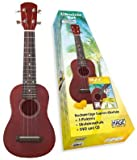Ukulele-Set: Sopran-Ukulele + 3 Plektren + Ukulelenschule + DVD und CD