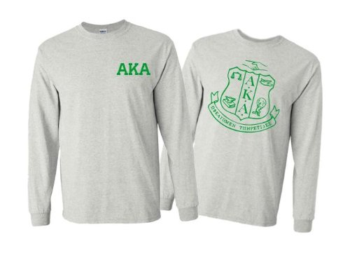 Alpha Kappa Alpha World Famous Crest Long Sleeve T-Shirt - $15!