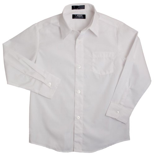 French Toast School Uniforms Long Sleeve Dress Shirt With Expandable Collar Boys White 2T front-225943