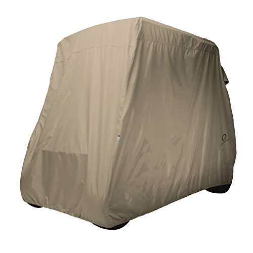 classic-accessories-golf-cart-cover-short-roof-light-khaki