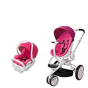 Beautiful Hot Pink Baby Jogger Double Stroller Twins Pram