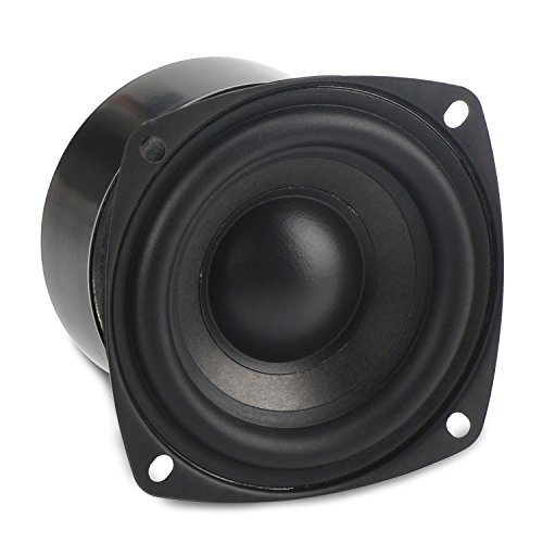 DROK 25W 3 Inch Square Shape 8 Ohm Woofer Speaker Stereo Loudspeaker Computer Compact Speakers, DIY Home Car Audio HiFi Speakers Bass 90Hz-5KHz (Infinity Subwoofer Package compare prices)