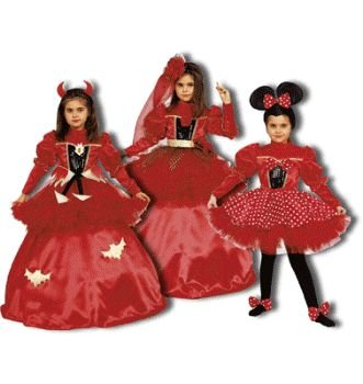 Pretend Devil-Spanish Dancer-Mouse Child Costume Dress-Up Sets (3-in-1) Size 4T