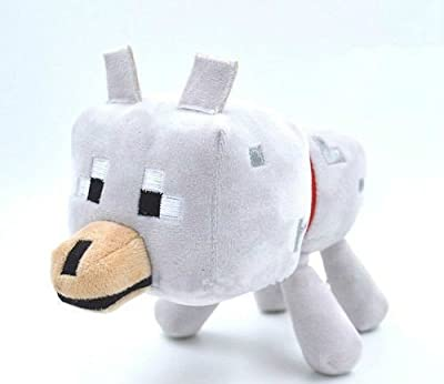 Minecraft Wolf Dog Plush 9 Inch Stuffed Animal Plush by PlushyHeaven