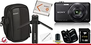 Sony Cyber-shot DSC-WX80 Digital Camera (Black) 32GB Package