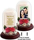 Special Anniversary Gift for Him or Her - Preserved Roses with Loving Anniversary Poem - You Add the Photo