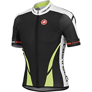 Castelli Climber's Jersey Black/Yellow Fluo/White, S - Men's