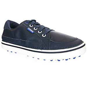 crocs Men's Bradyn Golf Shoe,Navy/White,10 M US