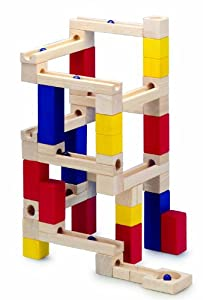 Wooden Marble Run Toy Building Blocks Game 54 piece from Toyday Traditional & Classic Toys