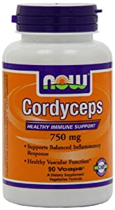 Now Foods Cordyceps 750mg, Veg-Capsules, 90-Count
