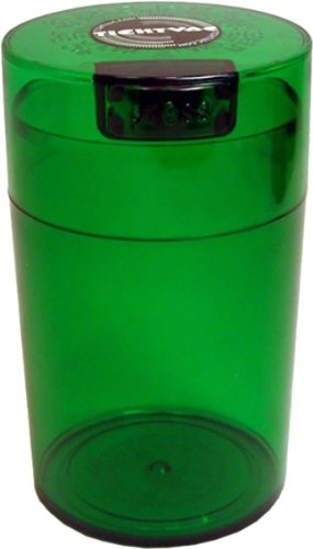 Tightvac 6-Ounce Vacuum Sealed Dry Goods Storage Container, Emerald Tinted Body/Cap