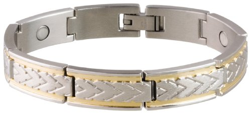 Sabona 25070 Wheat Chaff Duet Magnetic Bracelet, Medium