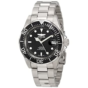 Big, bold and masculine, the Invicta Men's Pro Diver Automatic watch is an affordable luxury watch with classically styled features. This precisely constructed timepiece for men features a solid stainless steel case that's 40mm wide (1.57 inches). It...