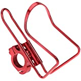 Durable Bicycle Bottle Holder Aluminum Alloy Bicycle Riding Handlebar Lightweight Drinking Water Cup Holder (Red)