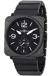 Bell & Ross Aviation Mens Black Ceramic Watch BR S Black CERAMIC Bracelet