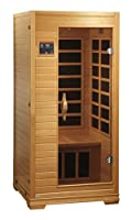 BetterLife BL6109 1-2 Person Carbon Infrared Sauna with ChromoTherapy Lighting, 36 by 36 by 77-Inch, Natural Hemlock Wood Finish