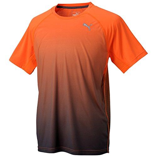 (プーマ)PUMA IGNITE ショートスリーブ Tシャツ 513687 03 バーミリオン オレンジ/ペリスコープ M