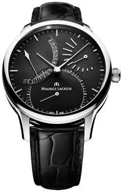 Maurice Lacroix Men's MP6508-SS001330 Master Piece Black Date Dial Strap Watch