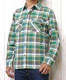 (アビレックス)AVIREX ネルシャツ シャツ チェック ワーク デイリー フランネル スプリング 6145212 340204-ns001 L 074グリーン