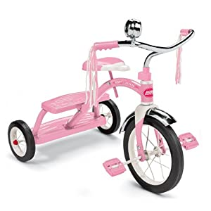 Radio Flyer Girls Classic Dual Deck Tricycle, Pink