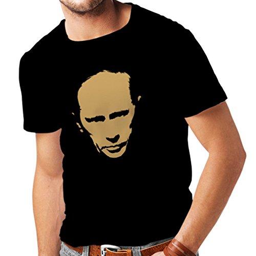N4113 T-shirt da uomo Like Vladimir Putin CCCP Russia Russland Moscow (Large Nero Oro)