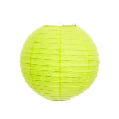 Koyal 20-Inch Paper Lantern, Lime Green