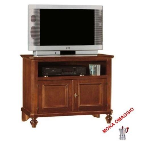 CLASSICO porta TV 2 ante in legno 1 cassetto a giorno sala soggiorno camera 396 86x47x81