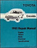 1985 Toyota Cressida Repair Shop Manual Original