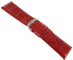 30mm Bracelet en cuir rouge - Morellato (grain alligator)