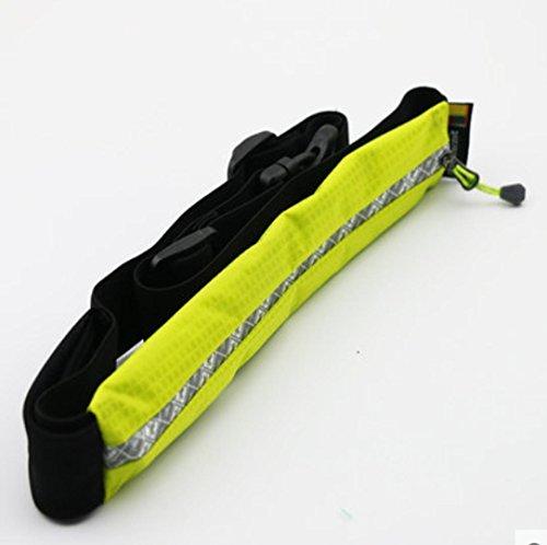 MENGYZ Sport Outdoor impermeabile tasche porta cellulare in esecuzione ultra leggero standard stealth personali portafoglio portamonete , bright yellow