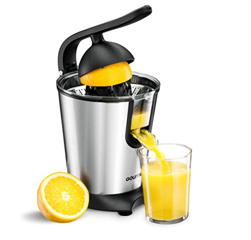 Best Price! Gourmia GCJ180 Stainless Steel Power Squeeze 8QT Motorized 160 Watts Citrus Press Juicer...