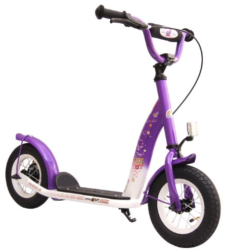 Bikestar 10 inch (25.4 cm) Kids Kick Scooter Purple and White