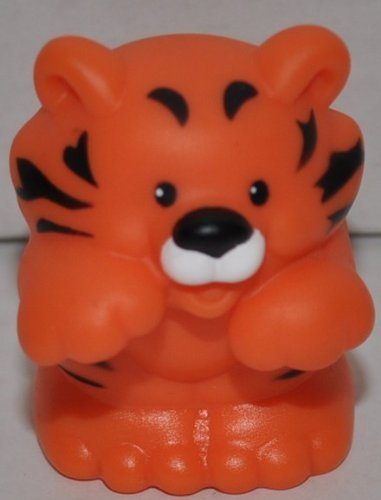Little People Tiger (2002) - Replacement Figure - Classic Fisher Price Collectible Figures - Loose Out Of Package (OOP) - Zoo Circus Ark Pet Castle - 1