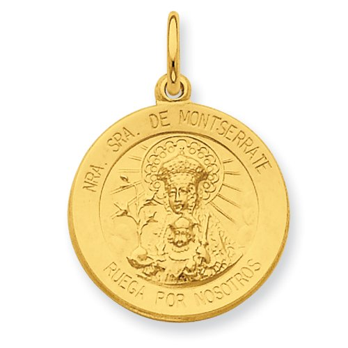 Sterling Silver & 24k Gold-plated Our Lady of Puerto Rico Medal