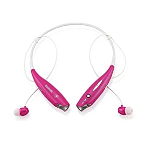 Gearonic Wireless Sport Stereo Headset Bluetooth Earphone Headphone for Samsung LG iPhone - Non-Retail Packaging - Hot Pink
