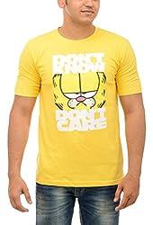 Shop Your Style Men's Cotton T-Shirt (ZYN00B9_XL, Yellow, X-Large)